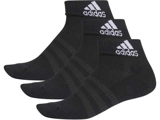 adidas Cush Ankelsokker 3-pak Herrer, black/black/black